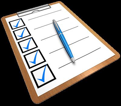 experiment materials checklist