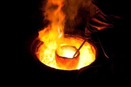melting metal heat energy