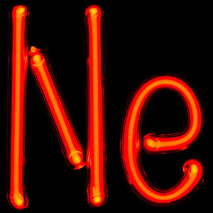 neon gas monatomic element
