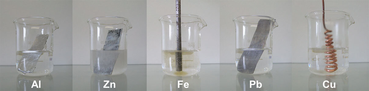 reactivity of metals in dilute sulfuric acid