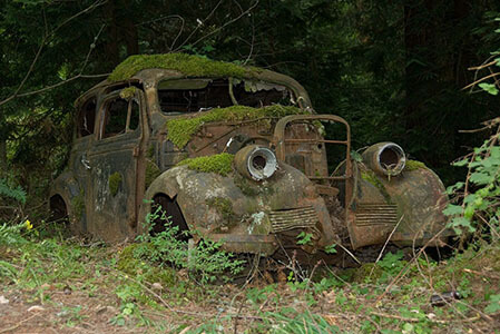rusting car slow chemical reaction