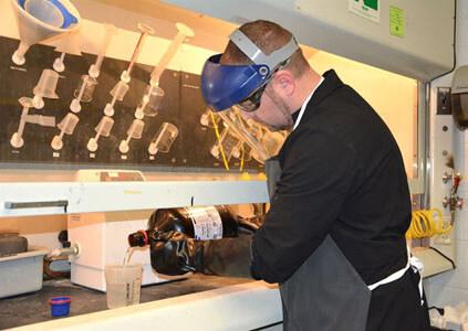 laboratory safety gear acids bases