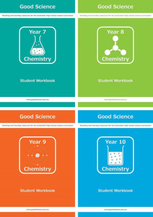 years 7-10 pdf chemistry workbook bundle