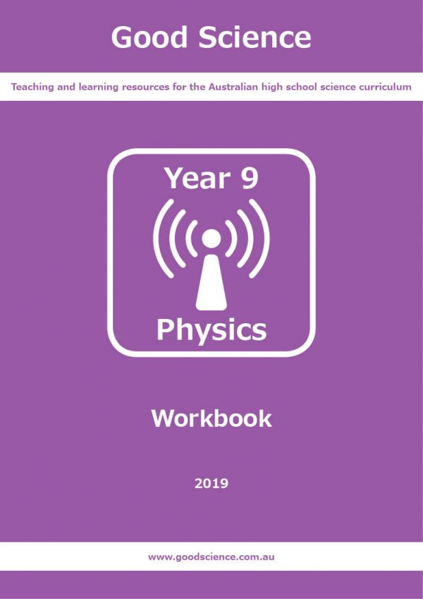 year 9 physics workbook cover