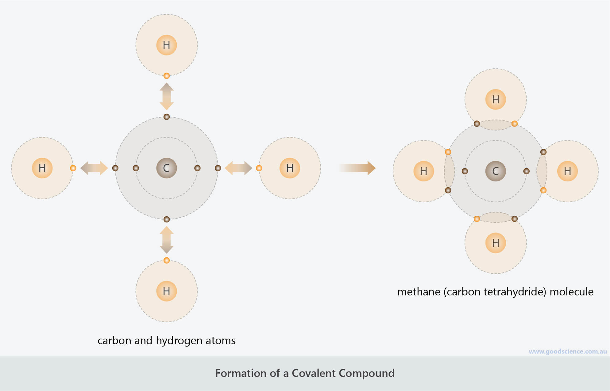 formation of a covalent compound