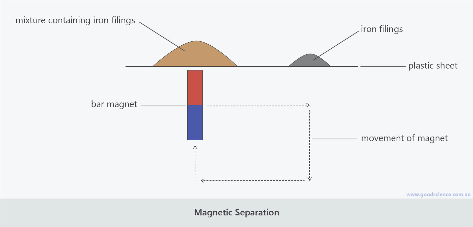 magnetic separation labelled scientific laboratory diagram