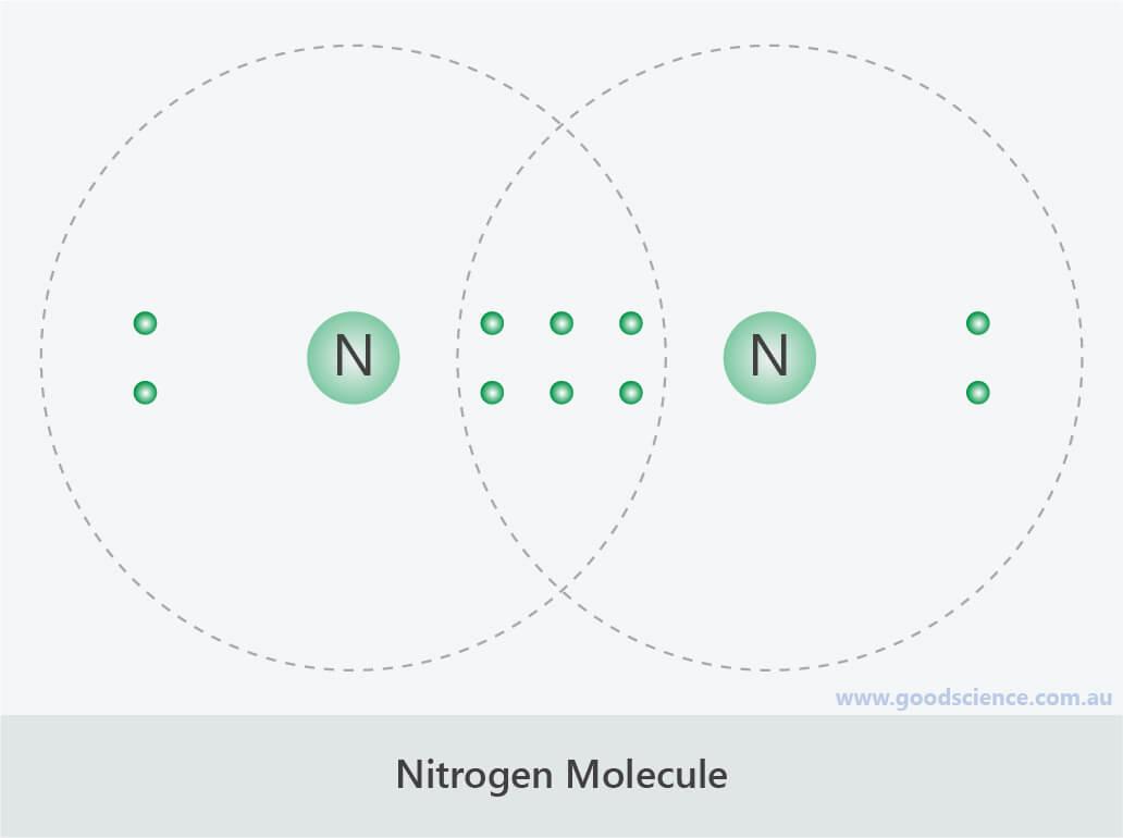 nitrogen molecule n2 covalent lewis structure