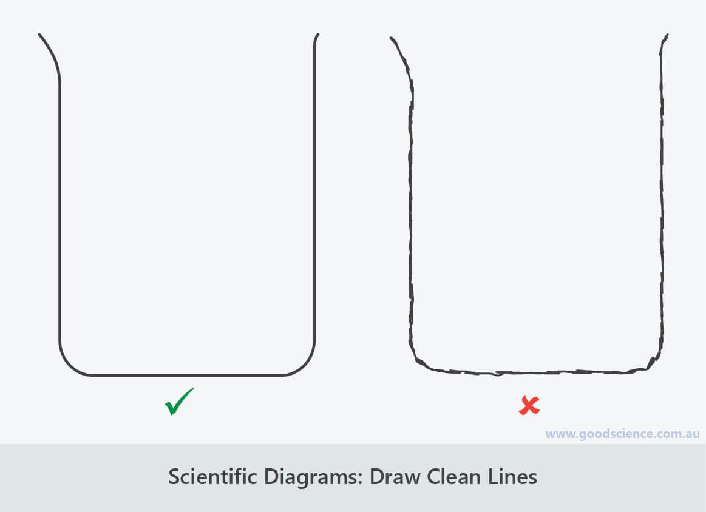 scientific diagrams clean lines