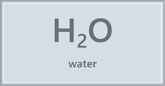 water chemical symbol
