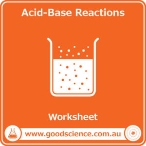 acid base reactions worksheet