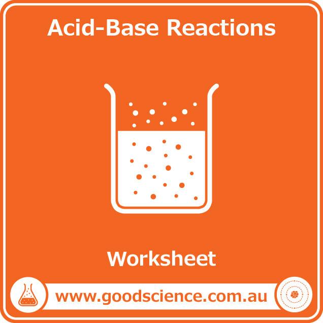 acid base reactions worksheet