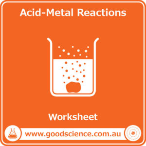 acid metal reactions worksheet