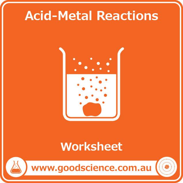 acid metal reactions worksheet
