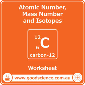 atomic number mass number and isotopes workbook