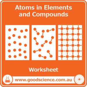 atoms in elements and compounds worksheet