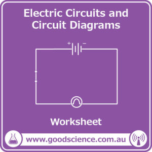 electric circuits and circuit diagrams worksheet