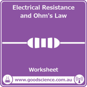 electrical resistance and ohms law worksheet