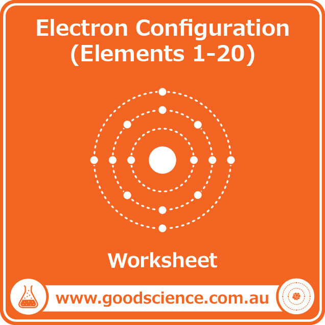 electron configuration elements 1-20 worksheet