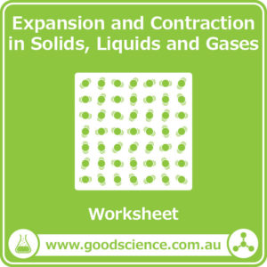 expansion and contraction in solids liquids and gases worksheet