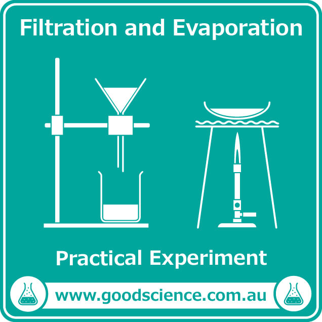 filtration and evaporation practical laboratory experiment