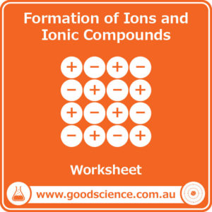 formation of ions and ionic compounds worksheet