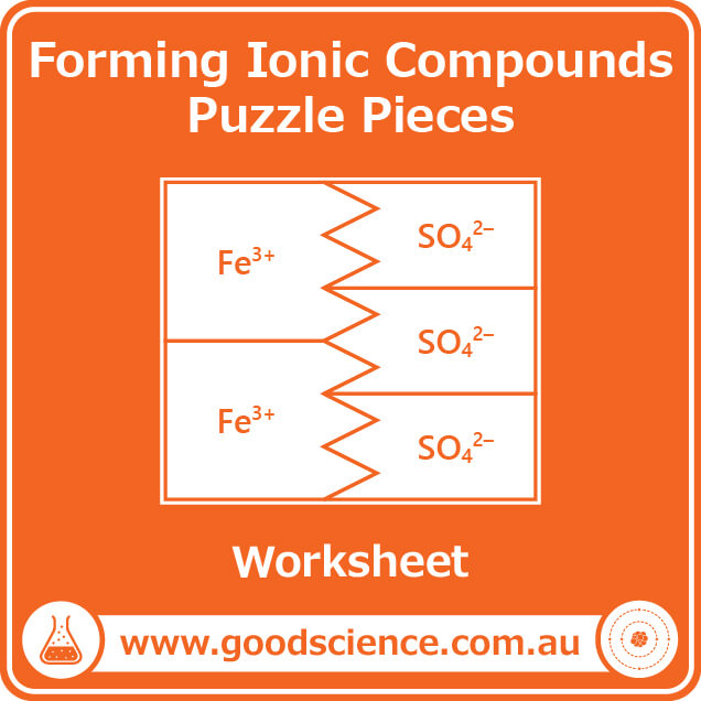 ions and ionic compounds puzzle pieces worksheet