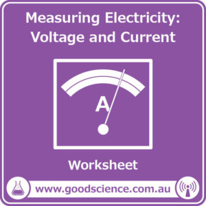 measuring electricity voltage and current worksheet