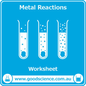 metal reactions worksheet
