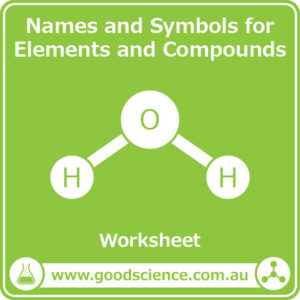 names and symbols for elements and compounds worksheet