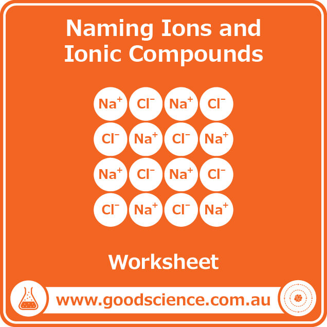 naming ions and ionic compounds worksheet