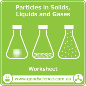particles in solids liquids and gases worksheet