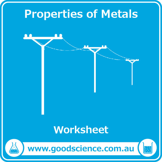 properties of metals worksheet