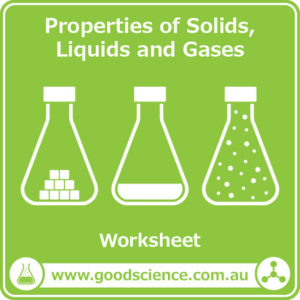 properties of solids liquids and gases worksheet