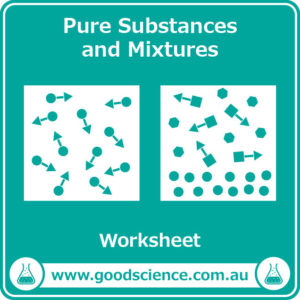 pure substances and mixtures worksheet