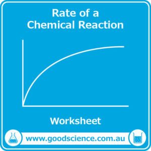 rate of a chemical reaction worksheet
