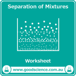 separation of mixtures worksheet