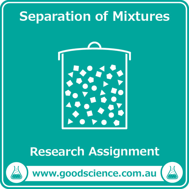 separation of mixtures research assignment