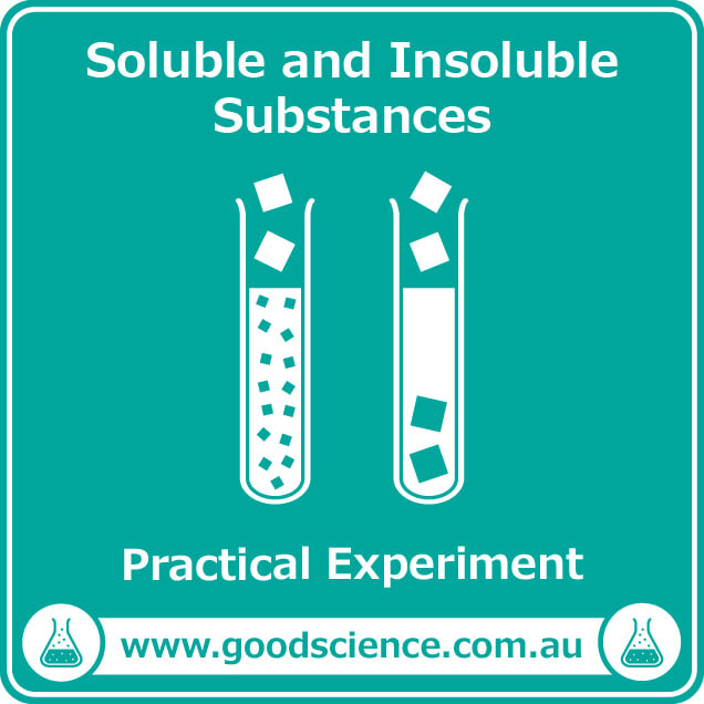 soluble and insoluble substances practical laboratory experiment