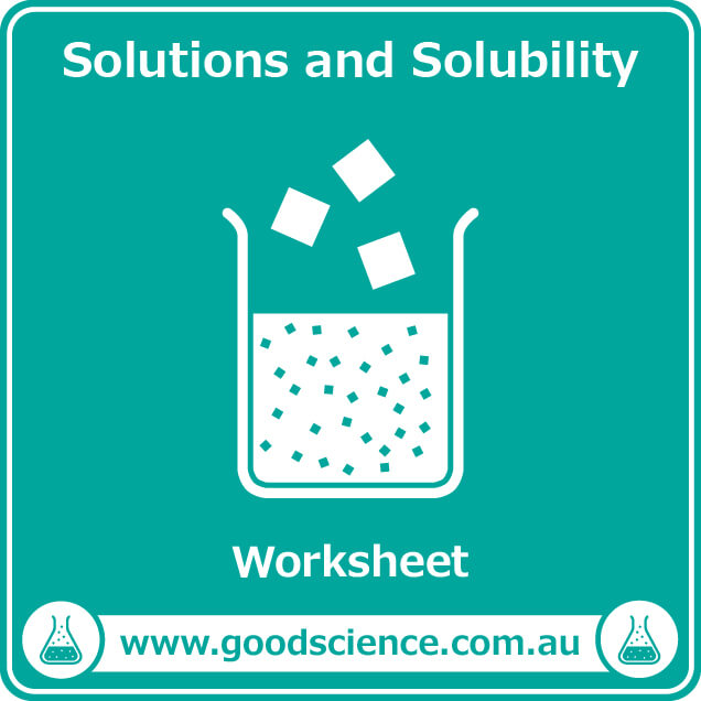 solutions and solubility worksheet