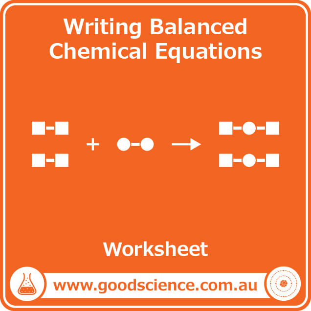 writing balanced chemical equations worksheet