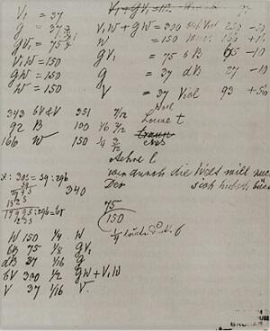mendel notebook experiment