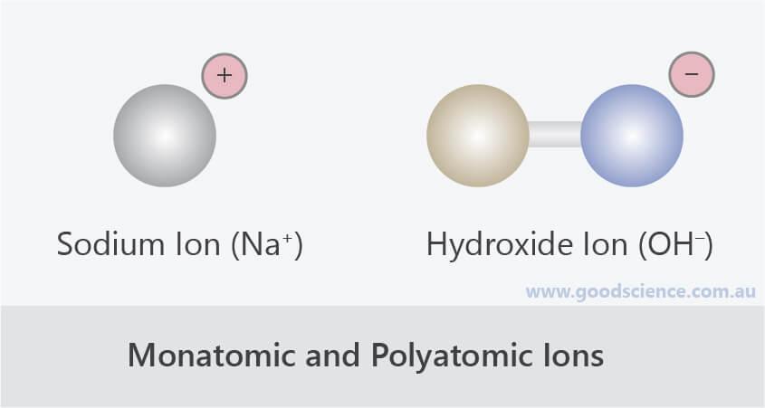 monatomic polyatomic ions