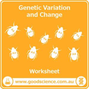 genetic variation and change worksheet