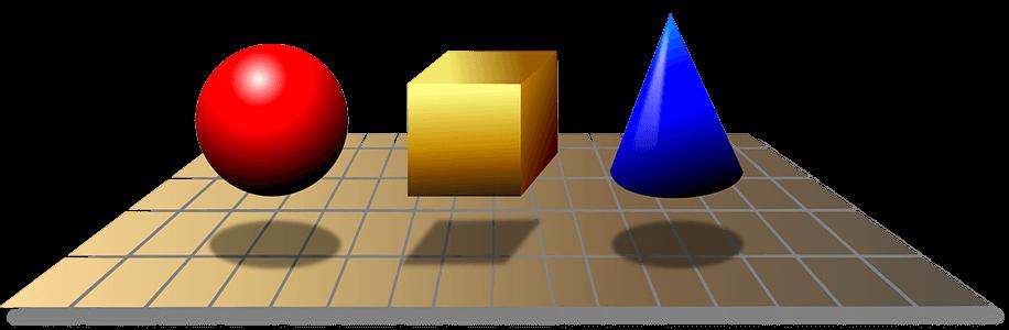 3d geometric shapes mass volume density